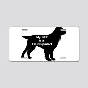 BFF Field Spaniel Aluminum License Plate