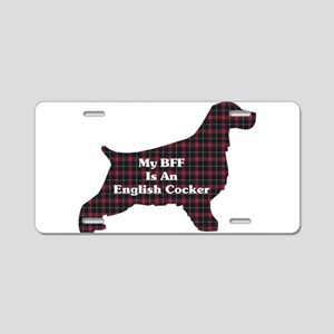 BFF English Cocker Aluminum License Plate