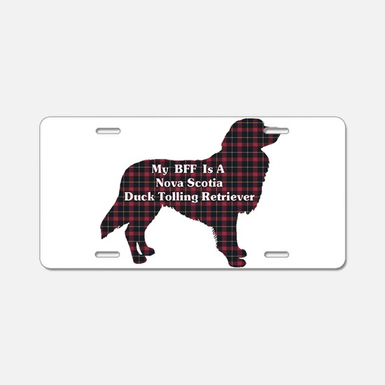 Duck Toller BFF Aluminum License Plate