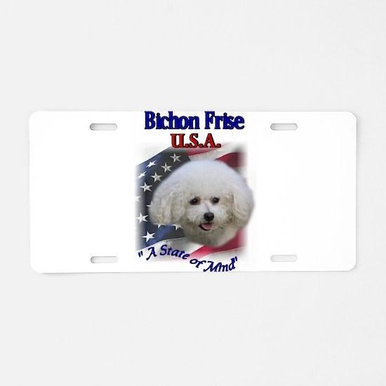 Bichon Frise Gifts Aluminum License Plate
