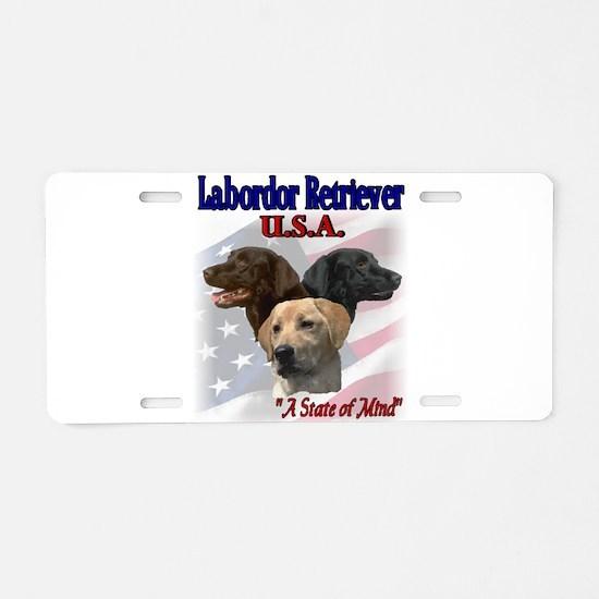 Labrador Retriever Gifts Aluminum License Plate