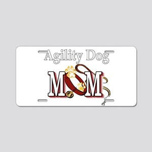 Agility Dog Mom Aluminum License Plate