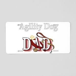Agility Dog Dad Aluminum License Plate