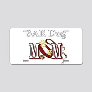 SAR Dog Mom Aluminum License Plate