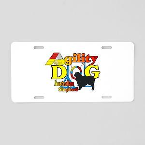 Australian Shepherd Agility Aluminum License Plate