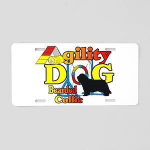 Bearded Collie Agility Aluminum License Plate