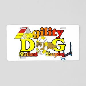 Sheltie Agility Aluminum License Plate