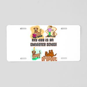 Dog Humor Aluminum License Plate