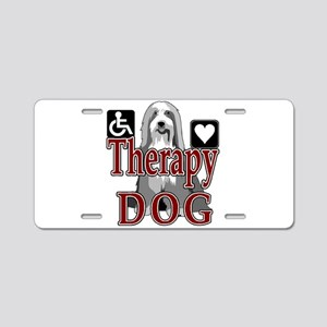 Therapy Dogs Aluminum License Plate