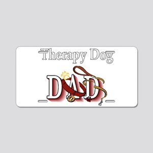 Therapy Dog Dad Aluminum License Plate