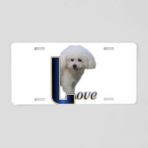 Bichon Frise Love Aluminum License Plate