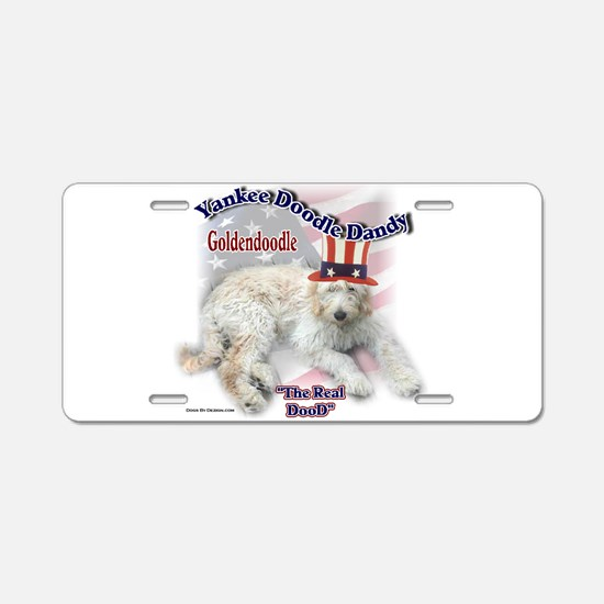 Yankee Goldendoodle Aluminum License Plate