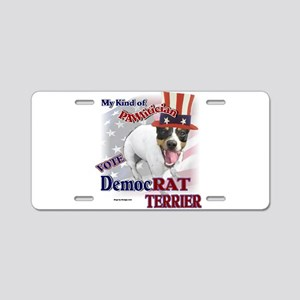 DemocRAT TERRIER Aluminum License Plate