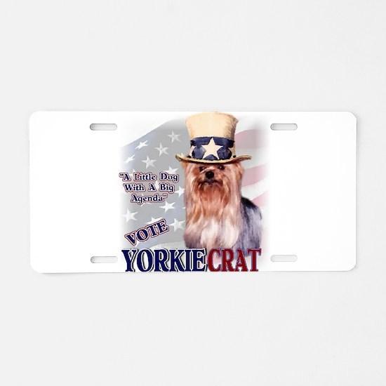 YORKIEcrat Aluminum License Plate