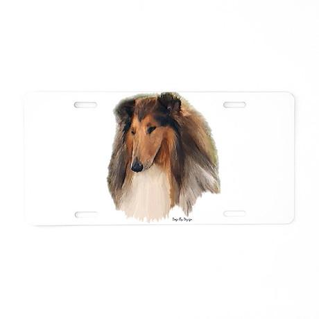 Rough Collie Art Aluminum License Plate