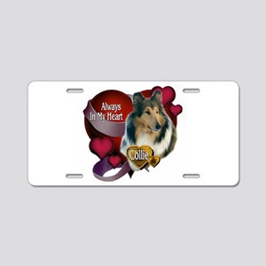 Rough Collie Gifts Aluminum License Plate