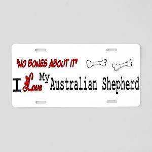 NB_Australian Shepherd Aluminum License Plate