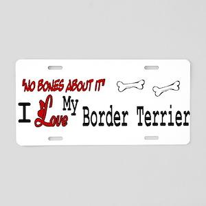 NB_Border Terrier Aluminum License Plate