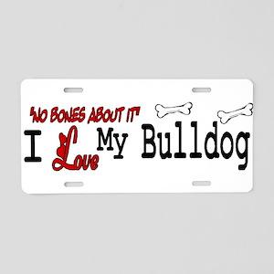 NB_Bulldog Aluminum License Plate