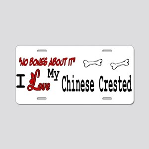 NB_Chinese Crested Aluminum License Plate