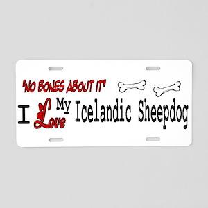 NB_Icelandic Sheepdog Aluminum License Plate
