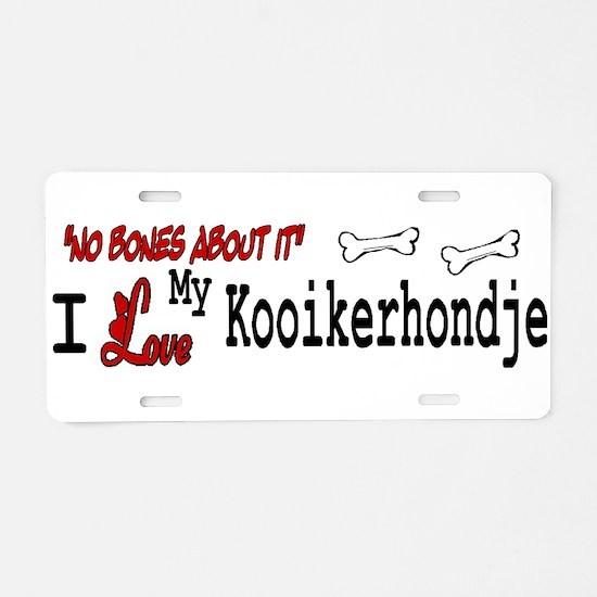 NB_Kooikerhondje Aluminum License Plate