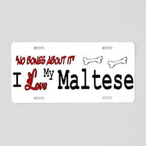 Maltese Gifts Aluminum License Plate
