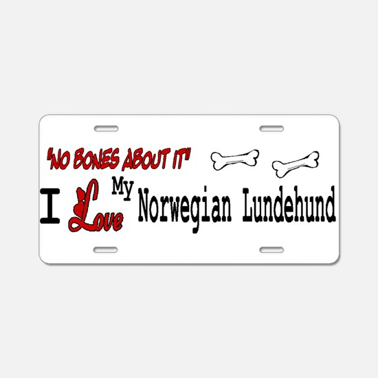 NB_Norwegian Lundehund Aluminum License Plate