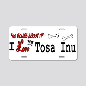 NB_Tosa Inu Aluminum License Plate