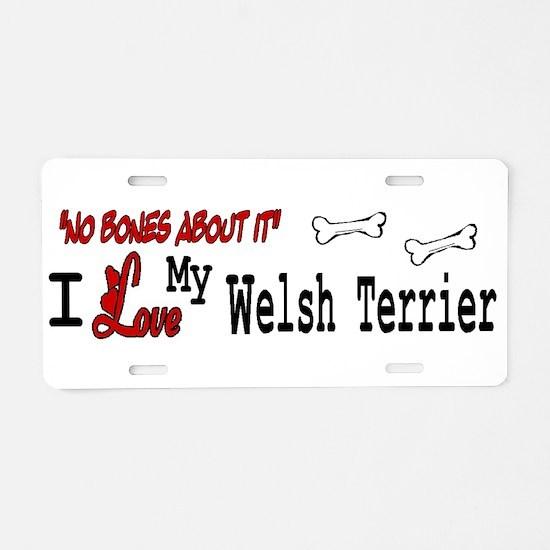 NB_Welsh Terrier Aluminum License Plate