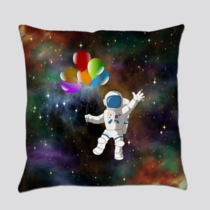 Astronaut with Balloons Everyday Pillow