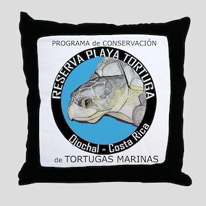 Marine Turtle Program Throw Pillow