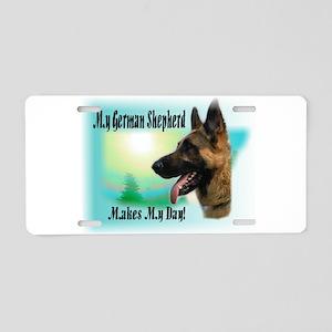 German Shepherd Gifts Aluminum License Plate