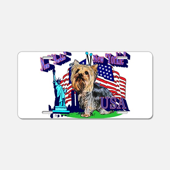 Pun Intended_ New Yorkie Aluminum License Plate