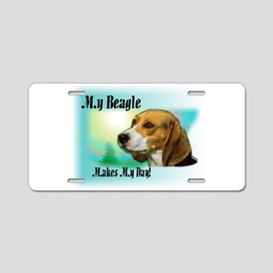 My Beagle Makes My day Aluminum License Plate