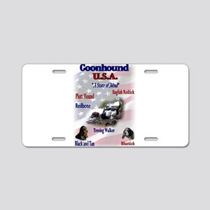 Coonhound USA Aluminum License Plate