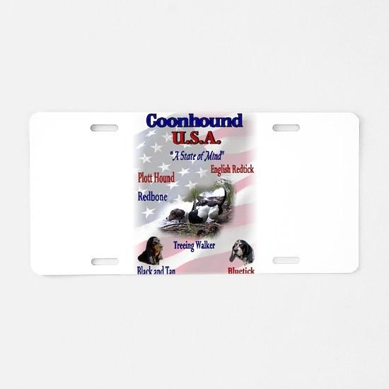 Coonhound USA Aluminum License Plate