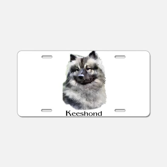 Keeshond Gifts Aluminum License Plate