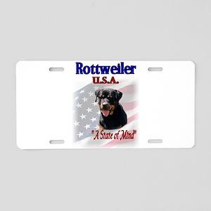 Rottweiler USA Aluminum License Plate