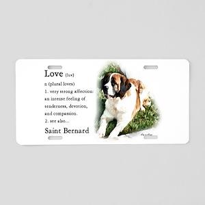 Saint Bernard Gifts Aluminum License Plate