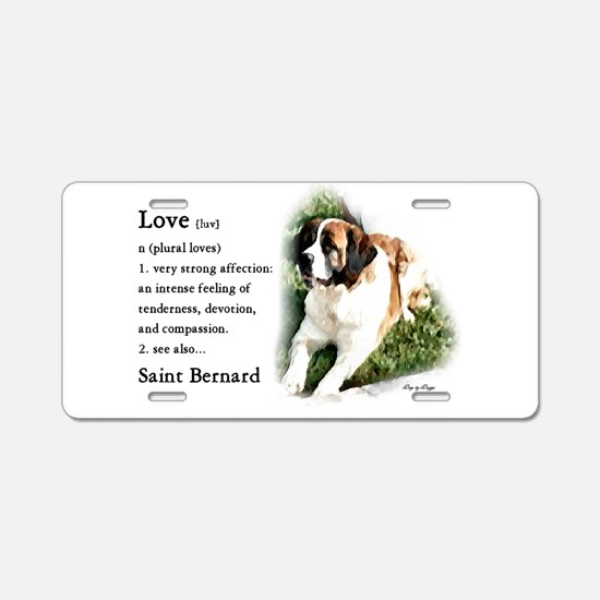 Saint Bernard Gifts Aluminum License Plate