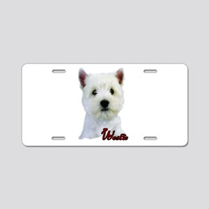 Westie(West Highland White) Aluminum License Plate