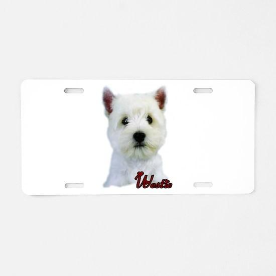 Westie(West Highland White) Aluminum License Plate