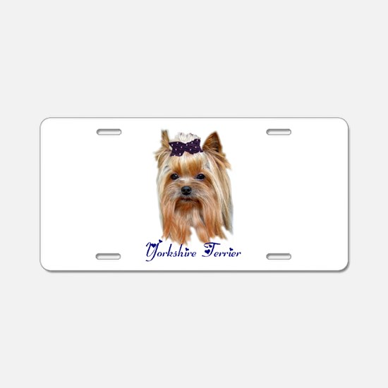 Cute Yorkies Aluminum License Plate