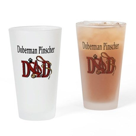Doberman Pinscher Dad Pint Glass