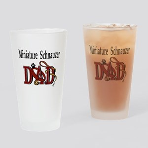 Miniature Schnauzer Dad Pint Glass