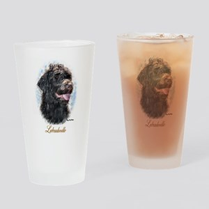 Labradoodle Art Drinking Glass
