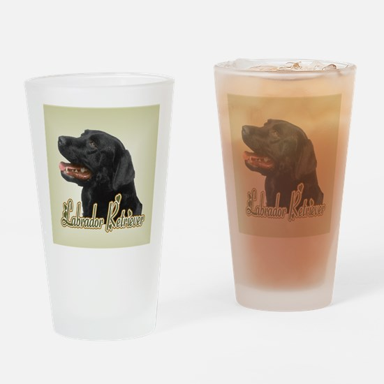 Black Labrador Retriever Drinking Glass