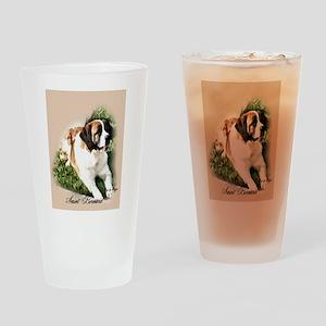 Saint Bernard Art Drinking Glass