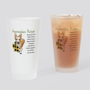 Australian Kelpie Pint Glass